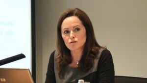 Silvia Calvet en la Jornada organizada por Asepeyo ayer.
